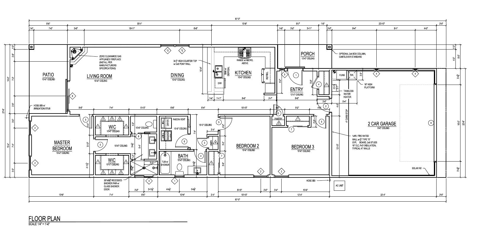 The Gila - Floor plan - new homes riorancho